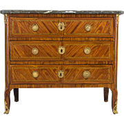18th Century Louis XVI Marquetry Commode