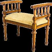 19th c. Louis XVI Style Bench