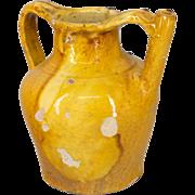 French Glazed Terra Cotta Jug