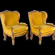 Pair of 19th Century Louis XV Style Bergeres