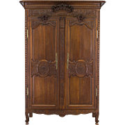 19th c. Louis XV Normandy Bridal Armoire