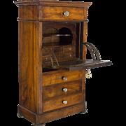 19th Century Louis Philippe Miniature Secretaire
