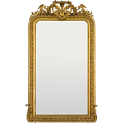 19th c. Louis-Philippe Gilded Mirror