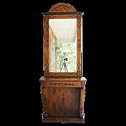 19th Century Biedermeier Console and Mirror