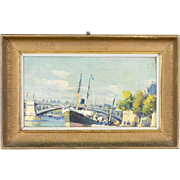 French Painting La Seine in Paris