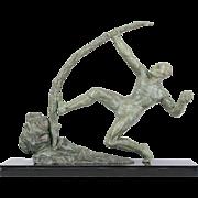 "French Bronze Sculpture entitled ""Le Benduer"""
