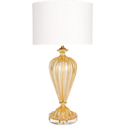 Barovier Murano Gold Glass Lamp