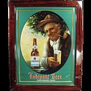 SOLD Old, Self Framed, Tin Advertising Sign - Hudepohl Beer