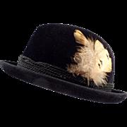Gentleman's Old, Black, Stetson Royal De Luxe, Fedora Hat
