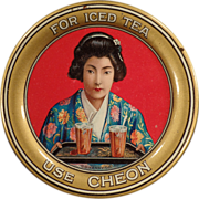Old Tip Tray - Oriental Tea Advertising - Cheon