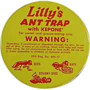 Old, Bug Advertising Tin - Lilly's Ant Trap