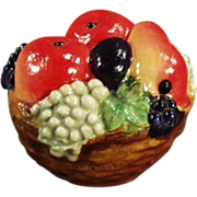 Old, Figural Celluloid, Tape Measure - Colorful Fruit Basket