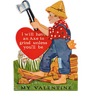 Old, Mechanical Valentine - Boy Chopping Wood
