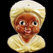 Old, Black Memorabilia - Mammy Ceramic Wall Pocket