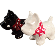 Old Salt & Pepper Set - Black & White Scotty Dogs