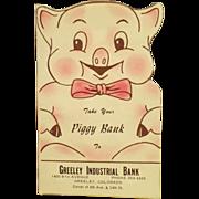 Old, Cardboard, Piggy Bank Dime Saver