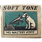 Old, Phonograph Needle Box - His Master's Voice