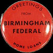 Old, Birmingham Federal, Advertising Tape Measure