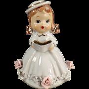 Old, Lefton, Porcelain Bell - Small Girl