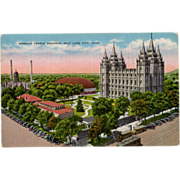 Old Postcard - Mormon Temple in Salt Lake City