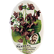 Old, Celluloid, Advertising Mirror - Mennen Violet Talc