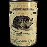 Old, Rat Poison, Advertising Tin - Harts Chemikill