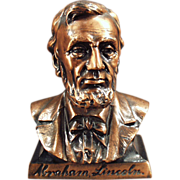 Old, Abraham Lincoln, Figural Coin Bank