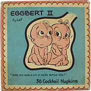 "Old, ""Eggbert"" Cocktail Napkins"