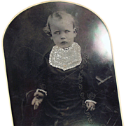Old Tintype Photograph - Young Child, Large Size