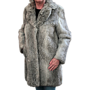 Ladies, Old, Silver Colored, Rabbit Fur Coat