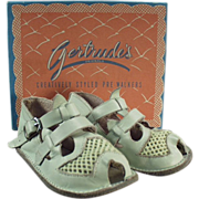 Old, Gertrude, Baby's Sandals with Original Shoe Box