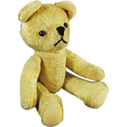 Old, Jointed, Gold Mohair Teddy Bear with Squeaker