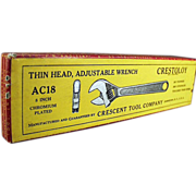 Old, Crestoloy, Adjustable Crescent Wrench Box