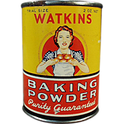 Old, Watkins Baking Powder, Sample Tin