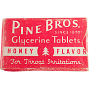 Old, Pine Bros.Cough Drops, Sample Box