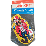 Old, Clown Clicker Toy with Original Package