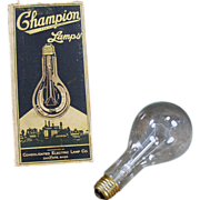 Old, Electric Light Bulb, Champion with Original Box