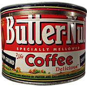 SALE PENDING Old, Butter-Nut Coffee Tin - Key Wind