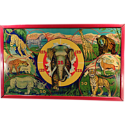 Old, Wild Africa, Target Game with Original Box - Colorful Graphics