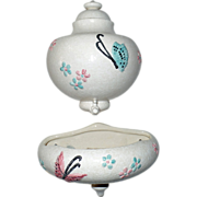 Old, Hull Pottery Lavabo in the Butterfly Pattern