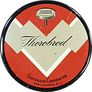 Old, Typewriter Ribbon Tin - Thorobred