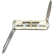 Old, Pen Knife with Advertising for the Chapman Company