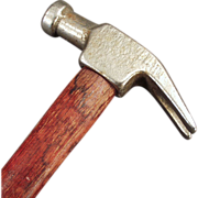 Old Claw Hammer with Plated Head