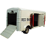 Old, Japanese Tin Toy, Cargo Trailer - Red Ball Express