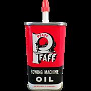 Old, Pfaff Sewing Machine Oil Tin - Sharp Graphics
