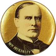 Old, Celluloid Pinback - President William McKinley