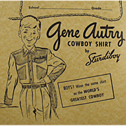 Old, Gene Autry Composition Book - Falk's Store Advertising