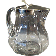 Old, Metal Lidded Syrup Pitcher - Heisey #359 - 12oz Size