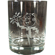 Old Advertising Glass - Reddy Kilowatt