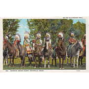 Old, Oregon Trail Souvenir Postcard with Bannock Indians